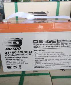 แบตเตอรี่เจล ขนาด 100A/12V แบรนด์ OUTDO ใช้งานระบบโซล่าเซลล์ ฟังชั่นเพิ่มเติมคือ มีหน้าจอ LCD เพื่อโชว์ Voltage ของแบตเตอรี่ เพื่อบอกคุณภาพของแบตเตอรี่